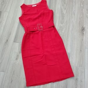 Calvin Klein red sleeveless dress sz 2